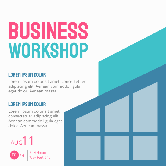 Invitation template: Business Workshop (Created by InfoART's Invitation marker)