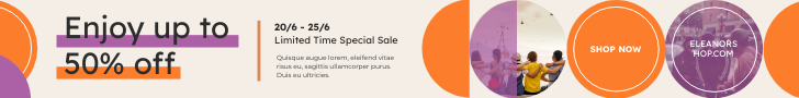 Banner Ad template: Circles Shopping Special Sale Banner Ad (Created by InfoART's Banner Ad maker)