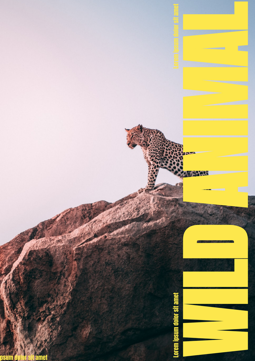 Poster template: Wild Animal Poster (Created by InfoART's Poster marker)