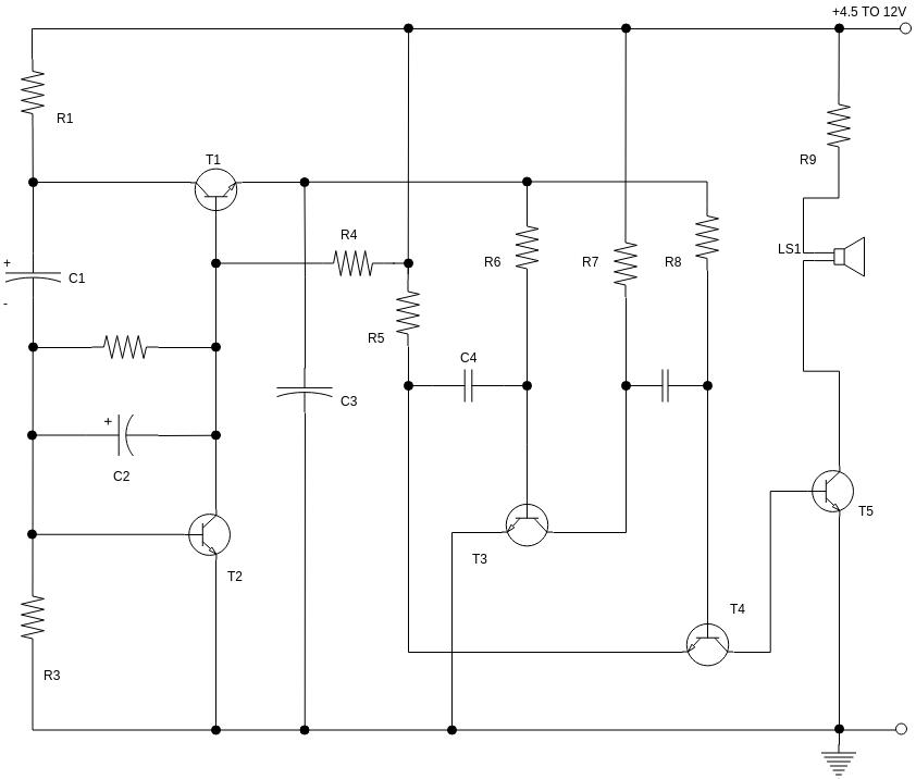 Circuit Diagram template: Motor Bike Brake Horn (Created by Diagrams's Circuit Diagram maker)