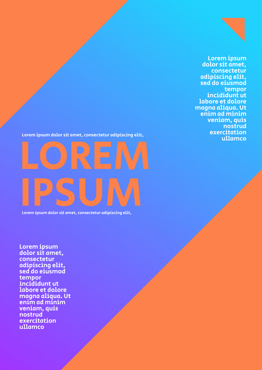 Poster template: Orange Blue Gradient Poster (Created by InfoART's Poster marker)