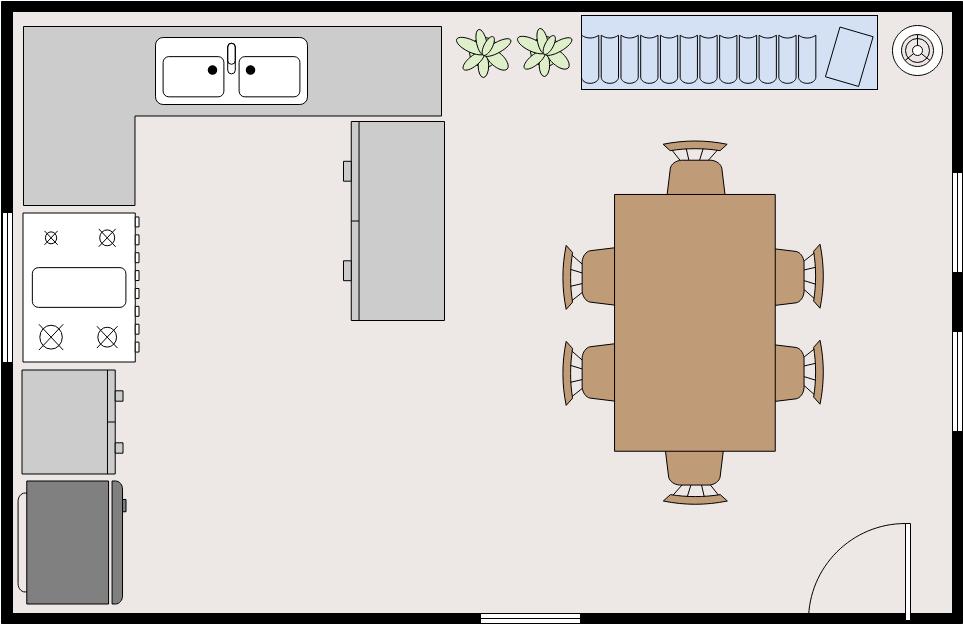 Dining Room Floor Plan template: Dining Room (Created by Diagrams's Dining Room Floor Plan maker)