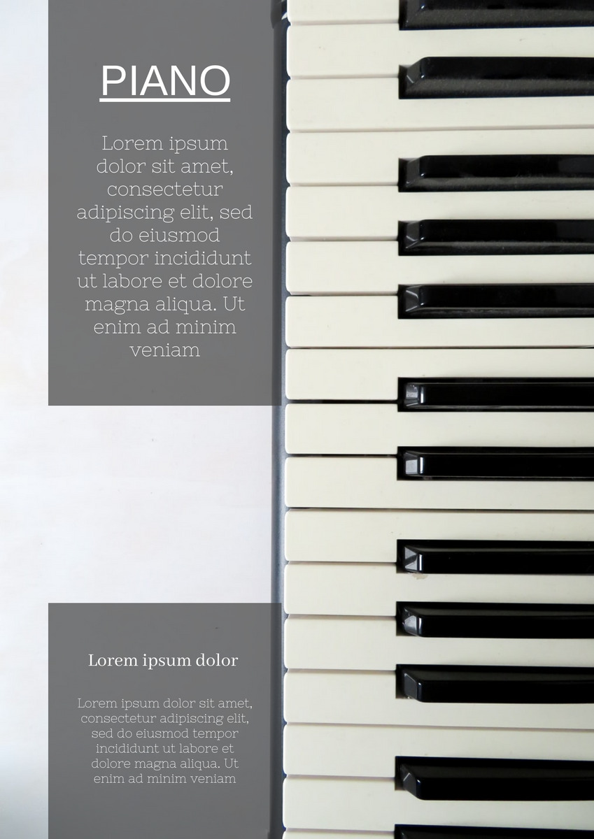 Poster template: Piano Poster (Created by InfoART's Poster marker)