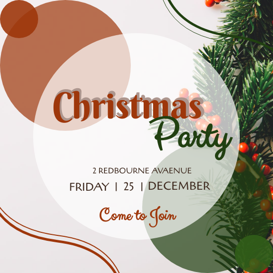 Invitation template: Red And Green Circle Christmas Invitation (Created by InfoART's Invitation marker)