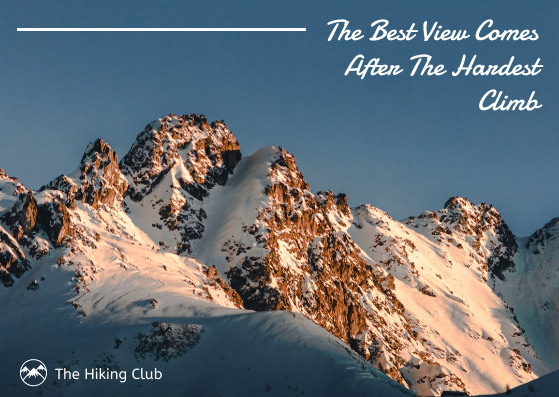 Post Card template: The Hiking Club Postcard (Created by InfoART's Post Card marker)