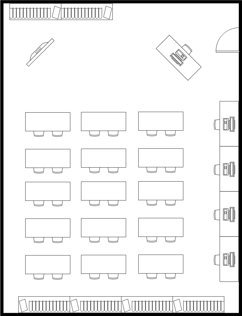 Seating Chart template: Classroom Seating Plan (Created by InfoART's Seating Chart maker)