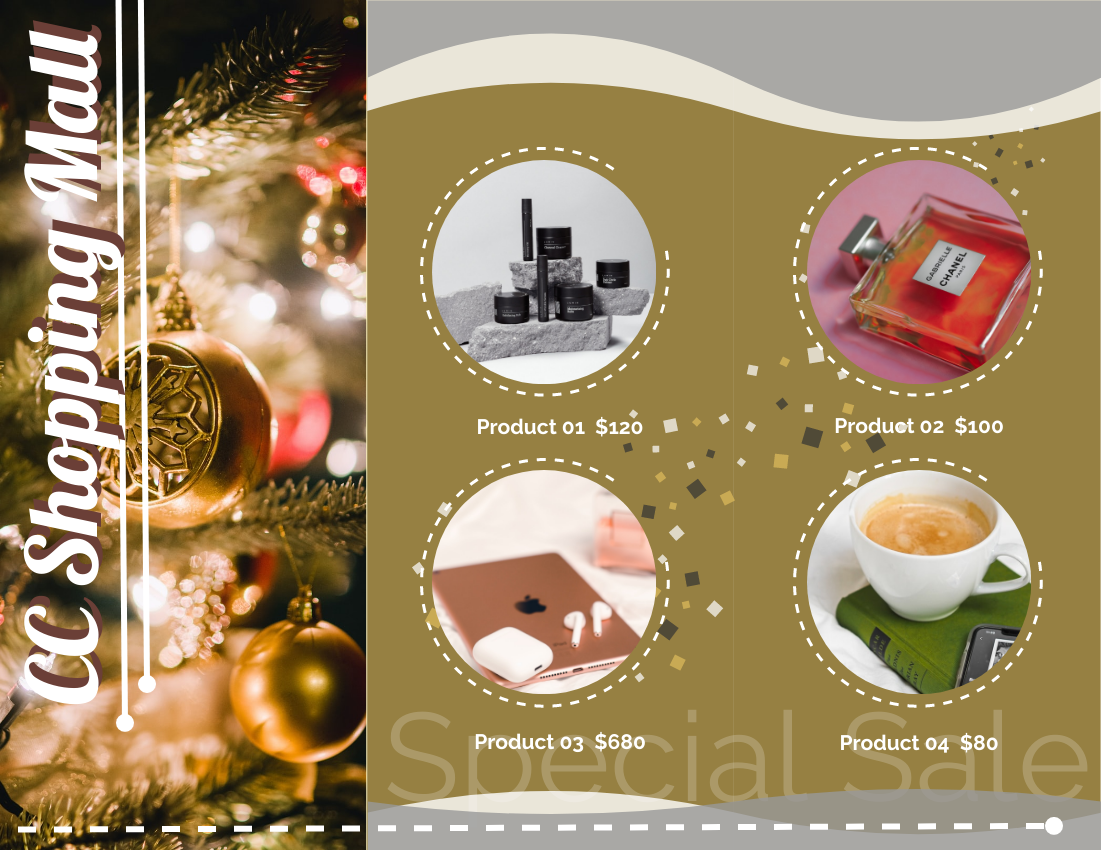 Brochure template: Christmas Sale Brochure (Created by InfoART's Brochure maker)