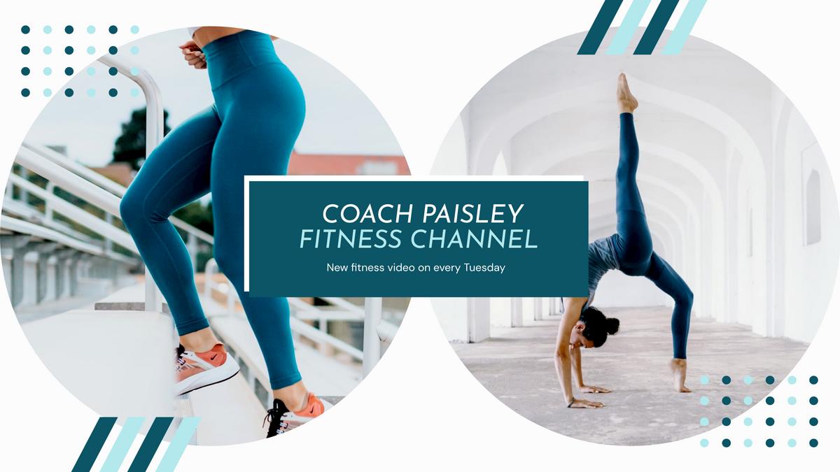 YouTube Channel Art template: Coach Fitness Sports YouTube Channel Art (Created by InfoART's YouTube Channel Art maker)