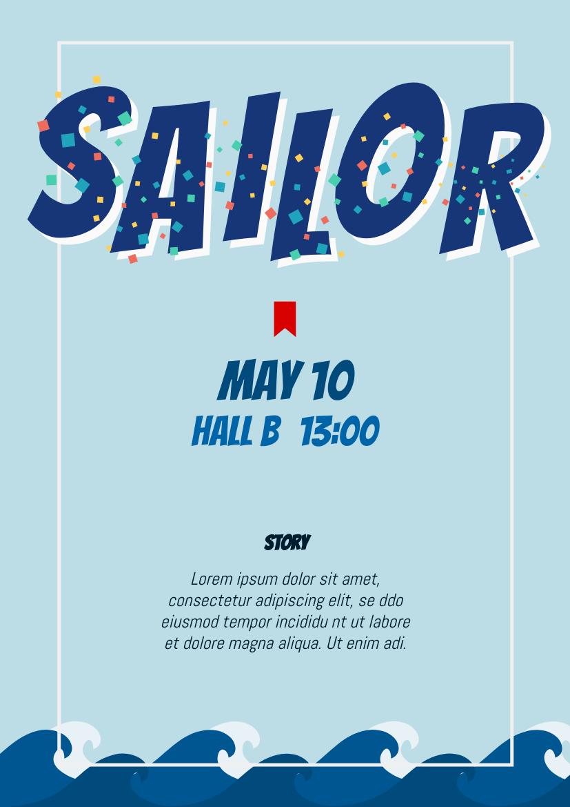 Flyer template: Drama Poster (Created by InfoART's Flyer marker)