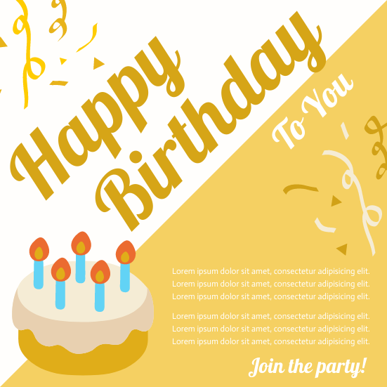 Invitation template: Birthday Party Invitation 2 (Created by InfoART's Invitation marker)