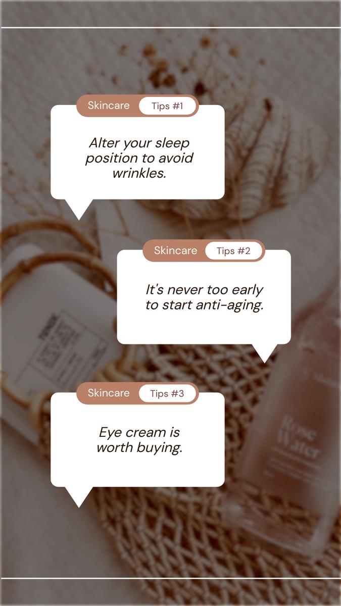 Instagram Story template: Skincare Tips Beauty Instagram Story (Created by InfoART's Instagram Story maker)