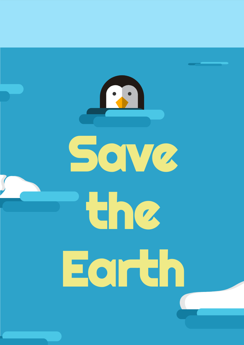 Flyer template: Save The Earth (Created by InfoART's Flyer maker)