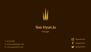 Business Card template: Jeguo Hotel Business Cards (Created by InfoART's Business Card maker)