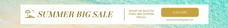 Banner Ad template: Summer Big Sale Banner Ad (Created by InfoART's Banner Ad maker)