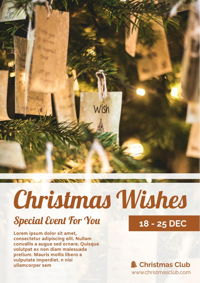 傳單模板:聖誕祝福活動傳單(由InfoART的傳單標記創建)