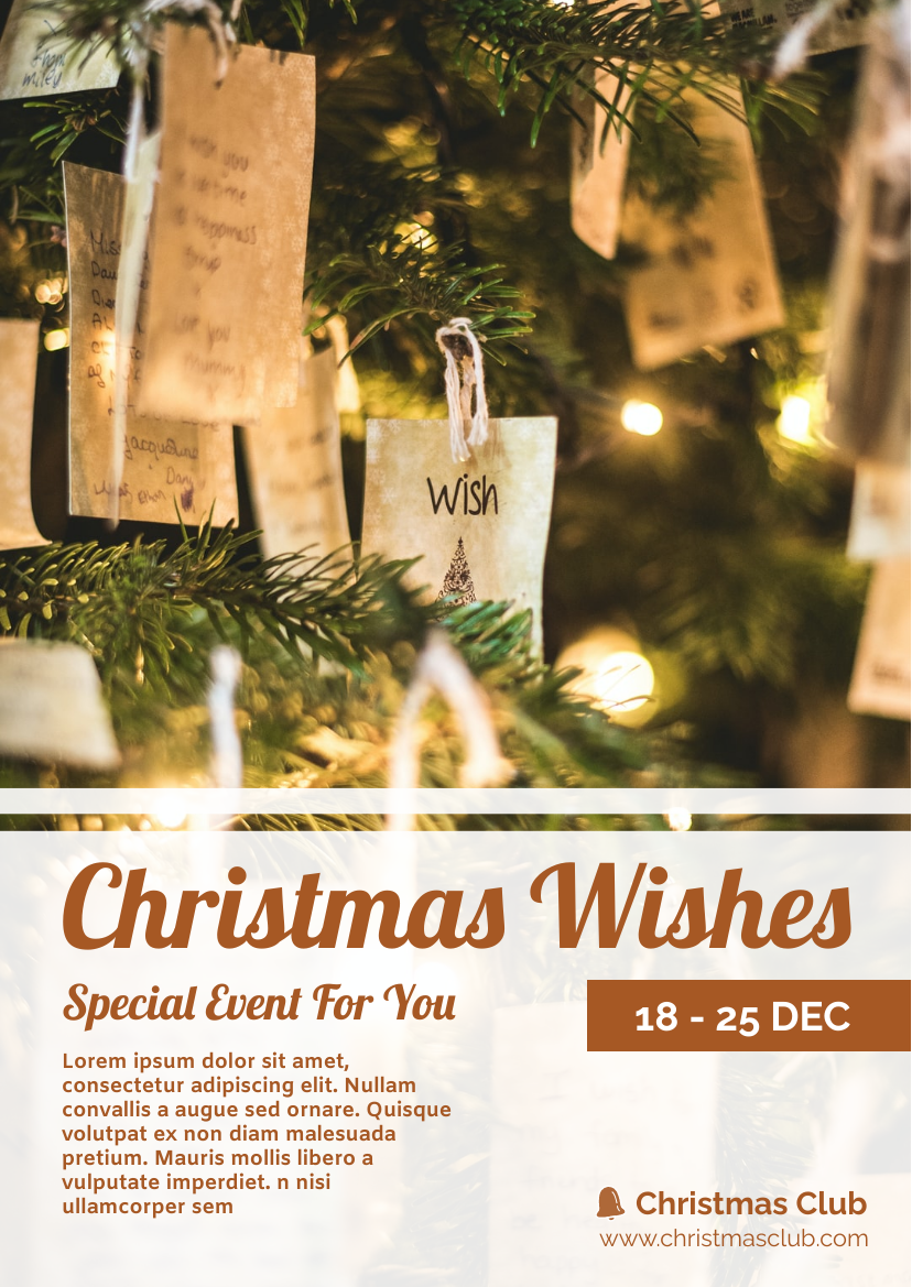 Flyer template: Christmas Writing Event Flyer (Created by InfoART's Flyer maker)