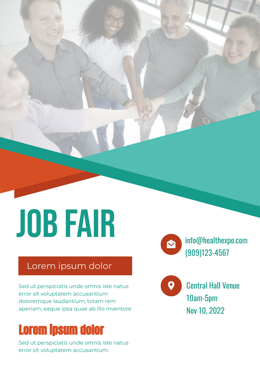 Poster template: Job Fair Poser With Details (Created by InfoART's Poster maker)