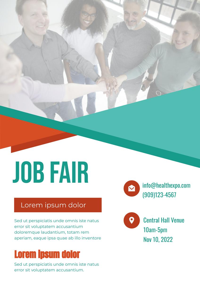 Poster template: Job Fair (Created by InfoART's Poster marker)