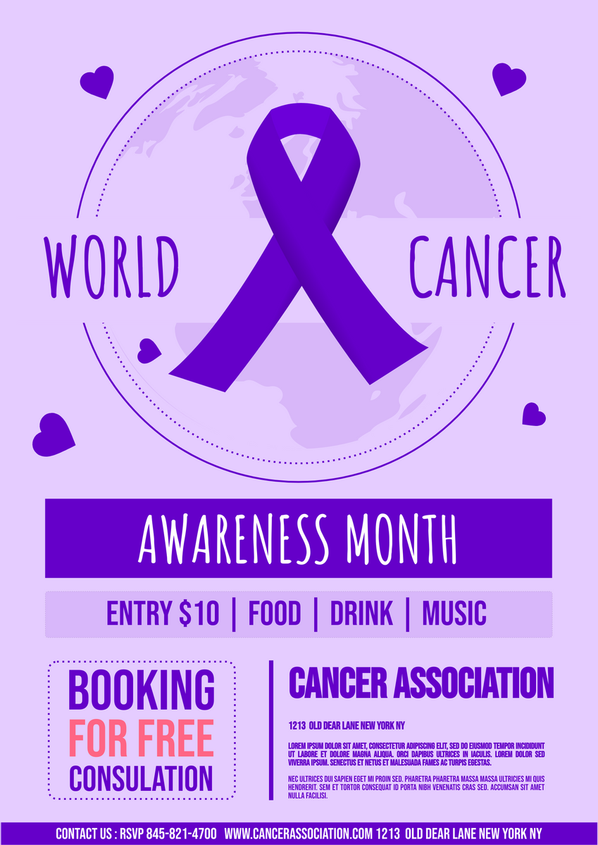 Poster template: Cancer Awareness Consultation Poster (Created by InfoART's Poster maker)