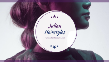 Business Card template: Purple With Stars Hair Salon Business Card (Created by InfoART's Business Card maker)