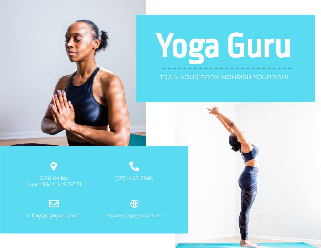 Brochure template: Yoga Guru (Created by InfoART's Brochure maker)