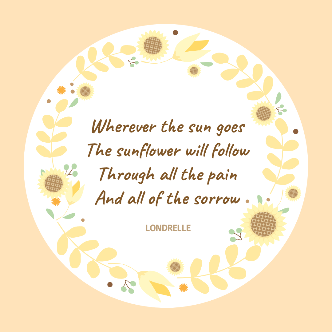 Instagram Post template: Instagram Post with Orange and Yellow Sunflower Quote (Created by InfoART's Instagram Post maker)