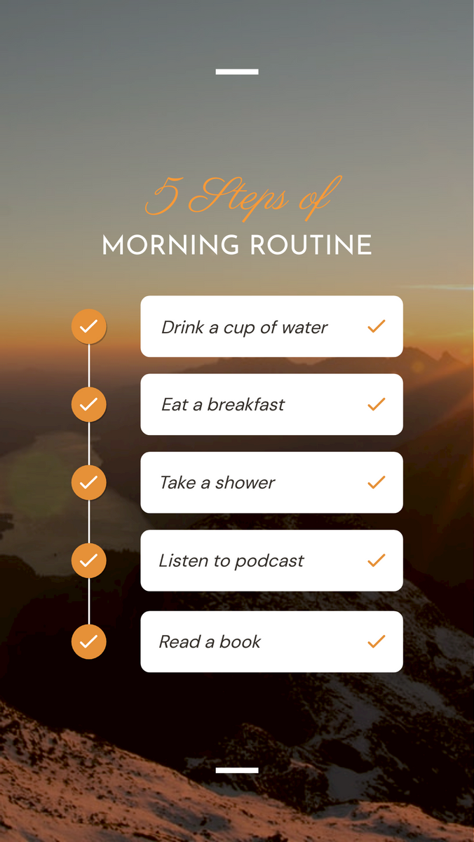 Instagram Story template: Your Daily Routine Instagram Story (Created by InfoART's Instagram Story maker)