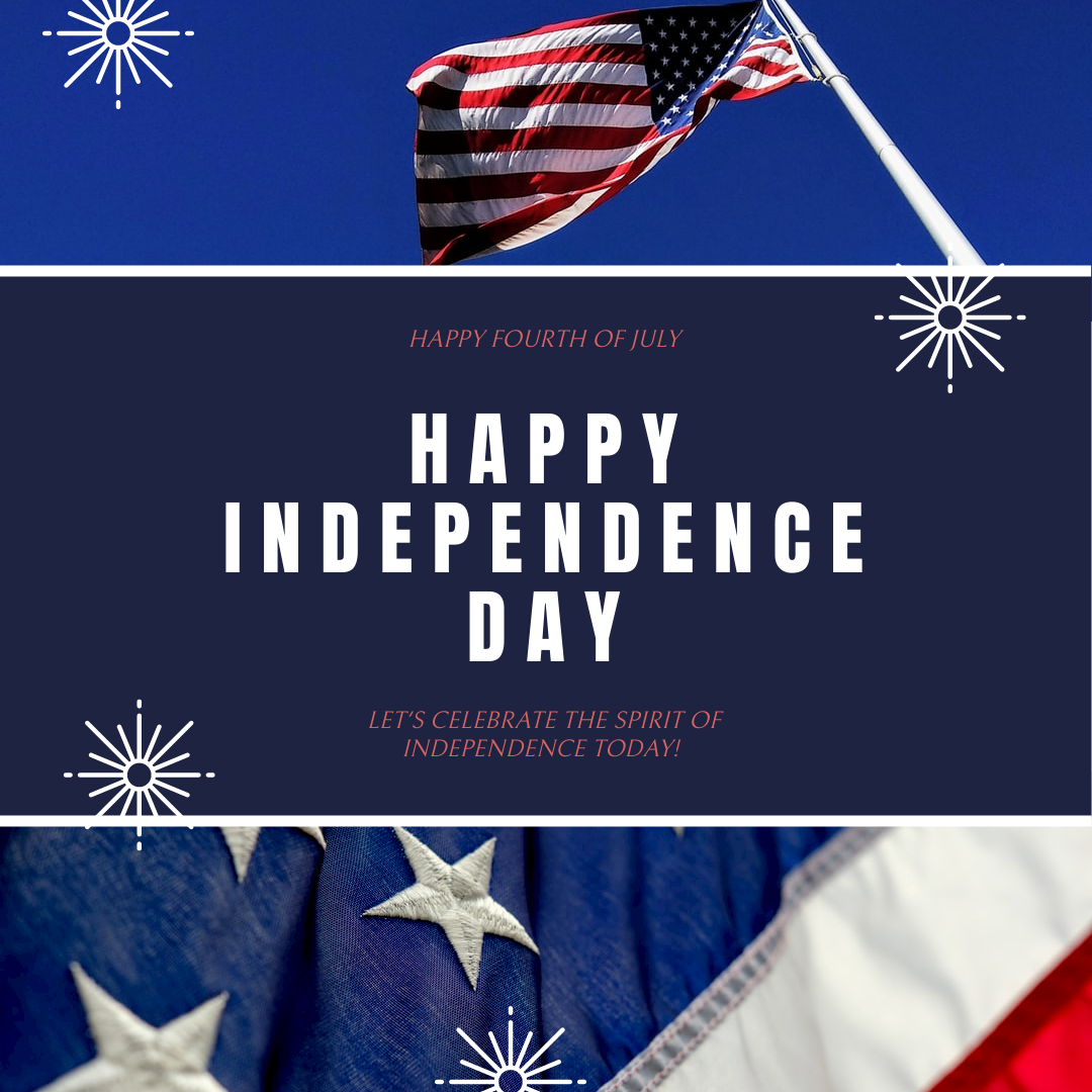 Instagram Post template: American Flag Independence Day Instagram Post (Created by InfoART's Instagram Post maker)