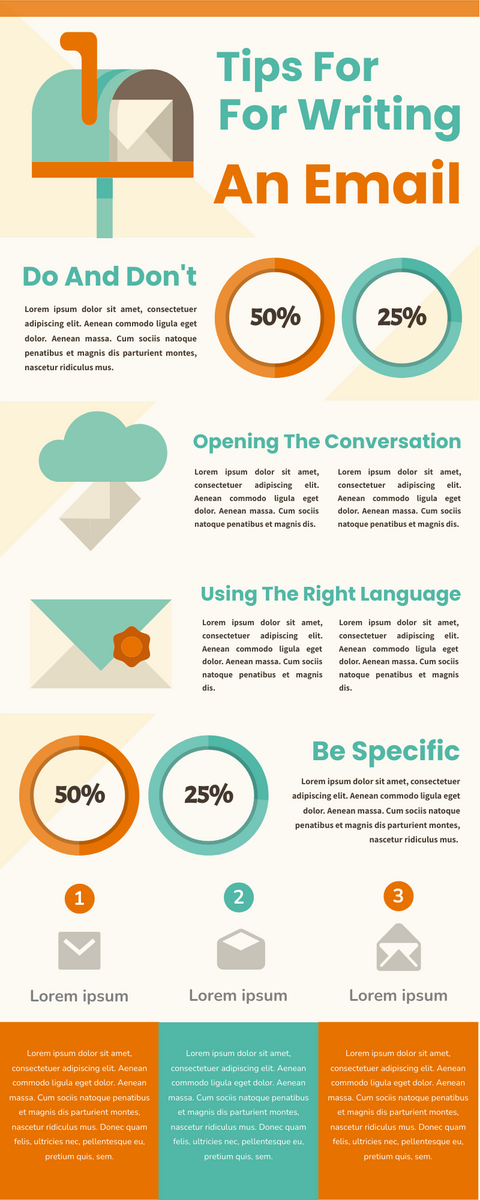 Infographic template: Writing Effective Emails Infographic (Created by InfoART's Infographic maker)