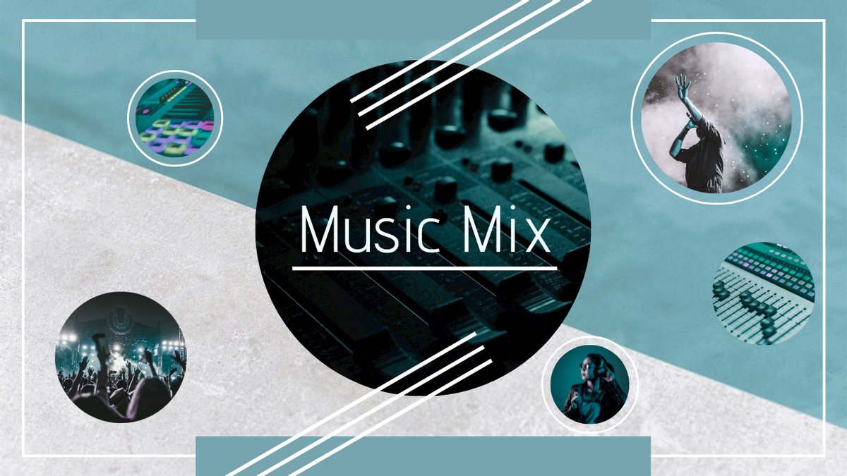 YouTube Thumbnail template: Music Mix YouTube Thumbnail (Created by Collage's YouTube Thumbnail maker)