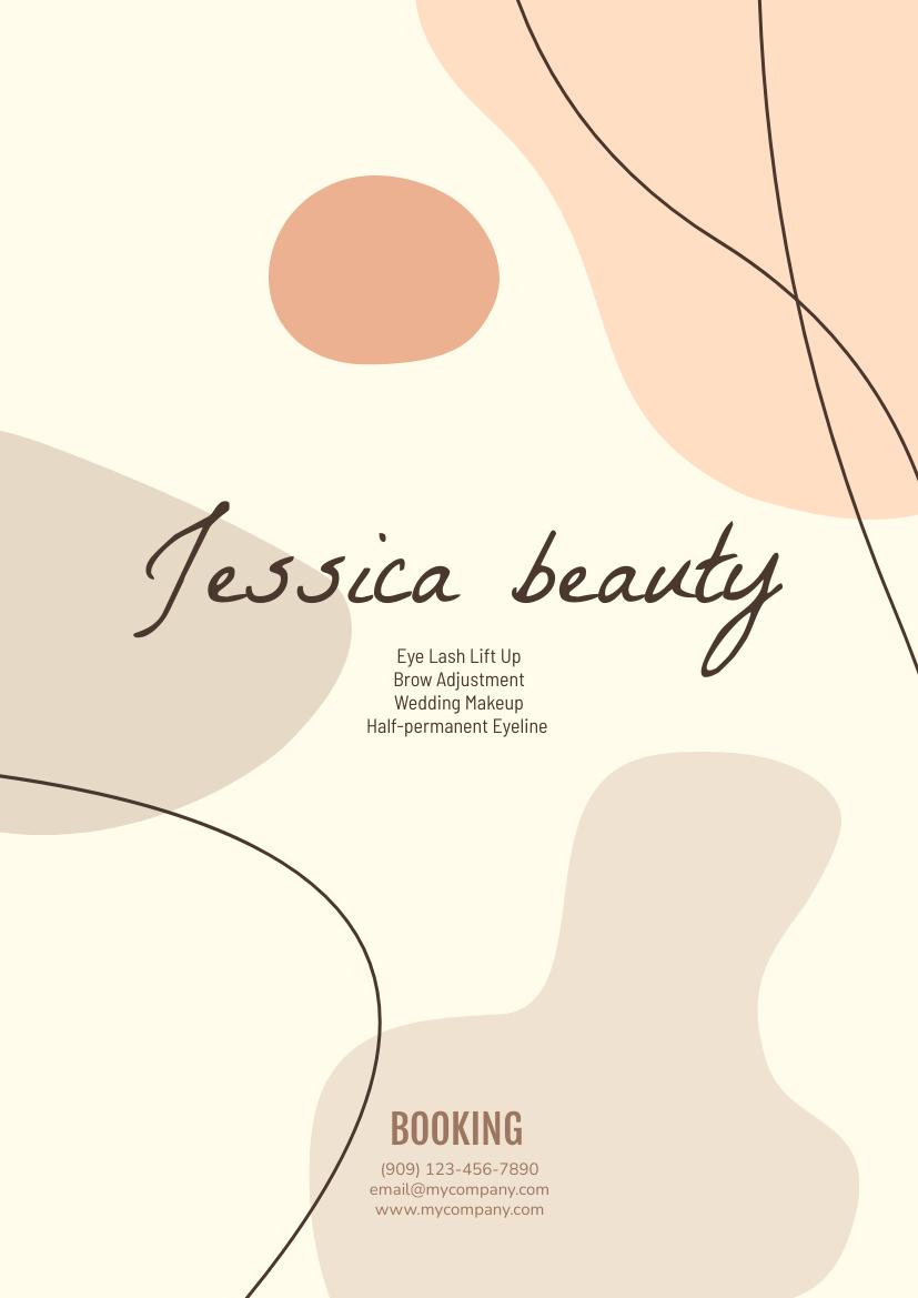 Flyer template: Beauty Service Booking Flyer (Created by InfoART's Flyer maker)