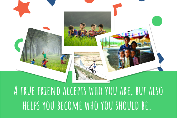 Greeting Card template: Child Friends Greeting Card (Created by Collage's Greeting Card maker)
