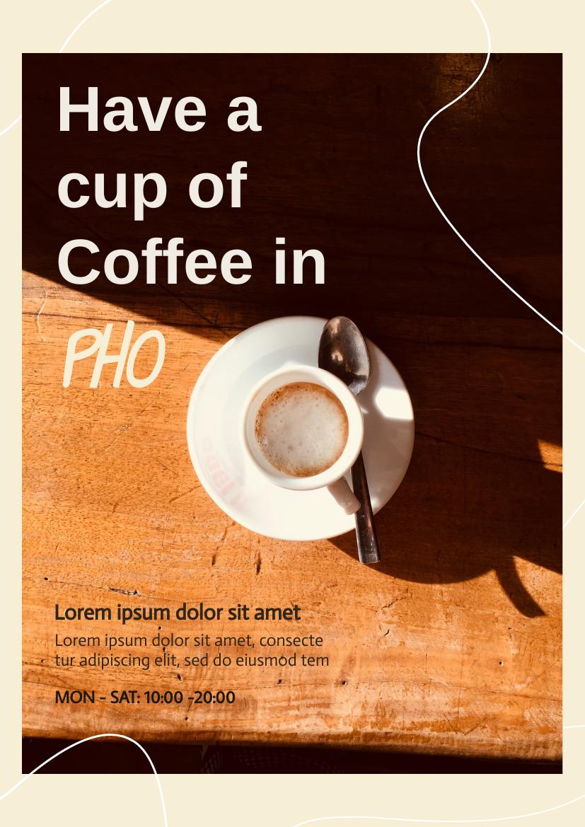 Flyer template: Coffee Shop Flyer (Created by InfoART's Flyer maker)