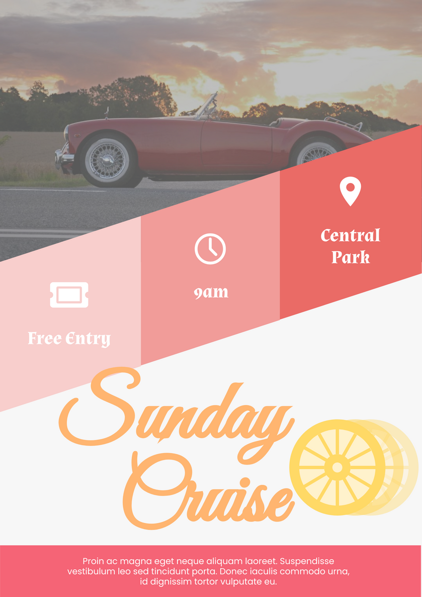 Poster template: Sunday Cruise (Created by InfoART's Poster maker)