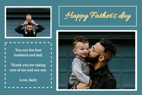 Greeting Card template: Photo Father's day Greeting Card (Created by InfoART's Greeting Card maker)