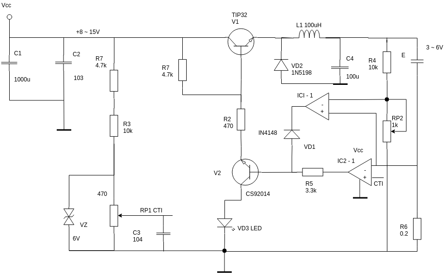 Circuit Diagram template: Constant Current Charger (Created by Diagrams's Circuit Diagram maker)