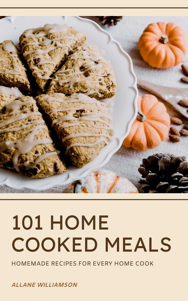 Book Cover template: 101 Home Cooked Meals Book Cover (Created by InfoART's Book Cover maker)