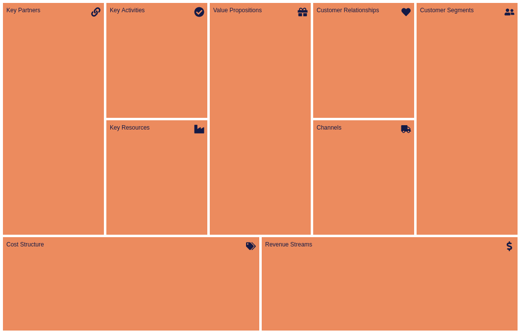 Business Model Canvas template: Bricks (Created by Diagrams's Business Model Canvas maker)
