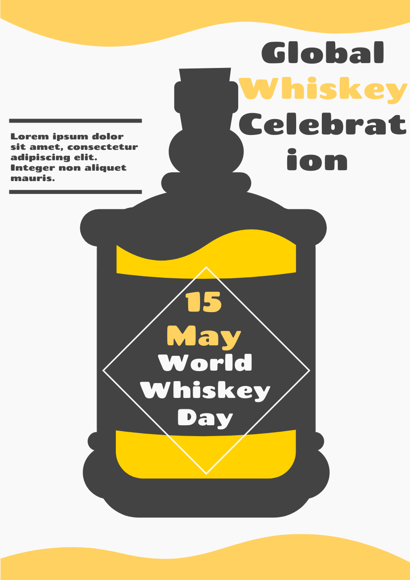 Flyer template: Graphic Whiskey Design Flyer (Created by InfoART's Flyer maker)