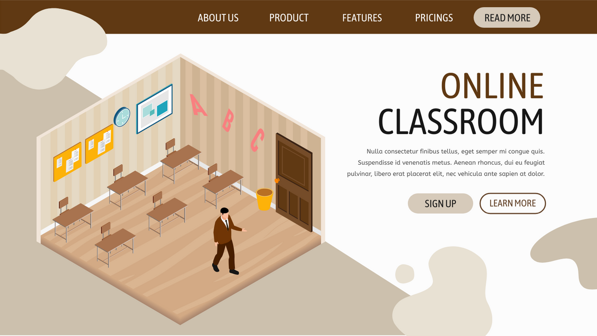 Isometric Diagram template: Empty Classroom (Created by InfoART's Isometric Diagram maker)