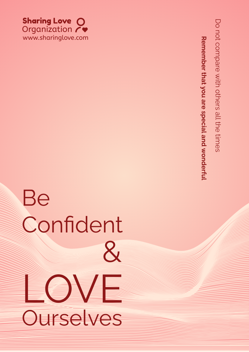 Flyer template: Tagline Flyer With Theme Of Love Ourselves (Created by InfoART's Flyer maker)