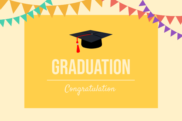 Greeting Card template: Graduation Greeting Card (Created by InfoART's Greeting Card maker)