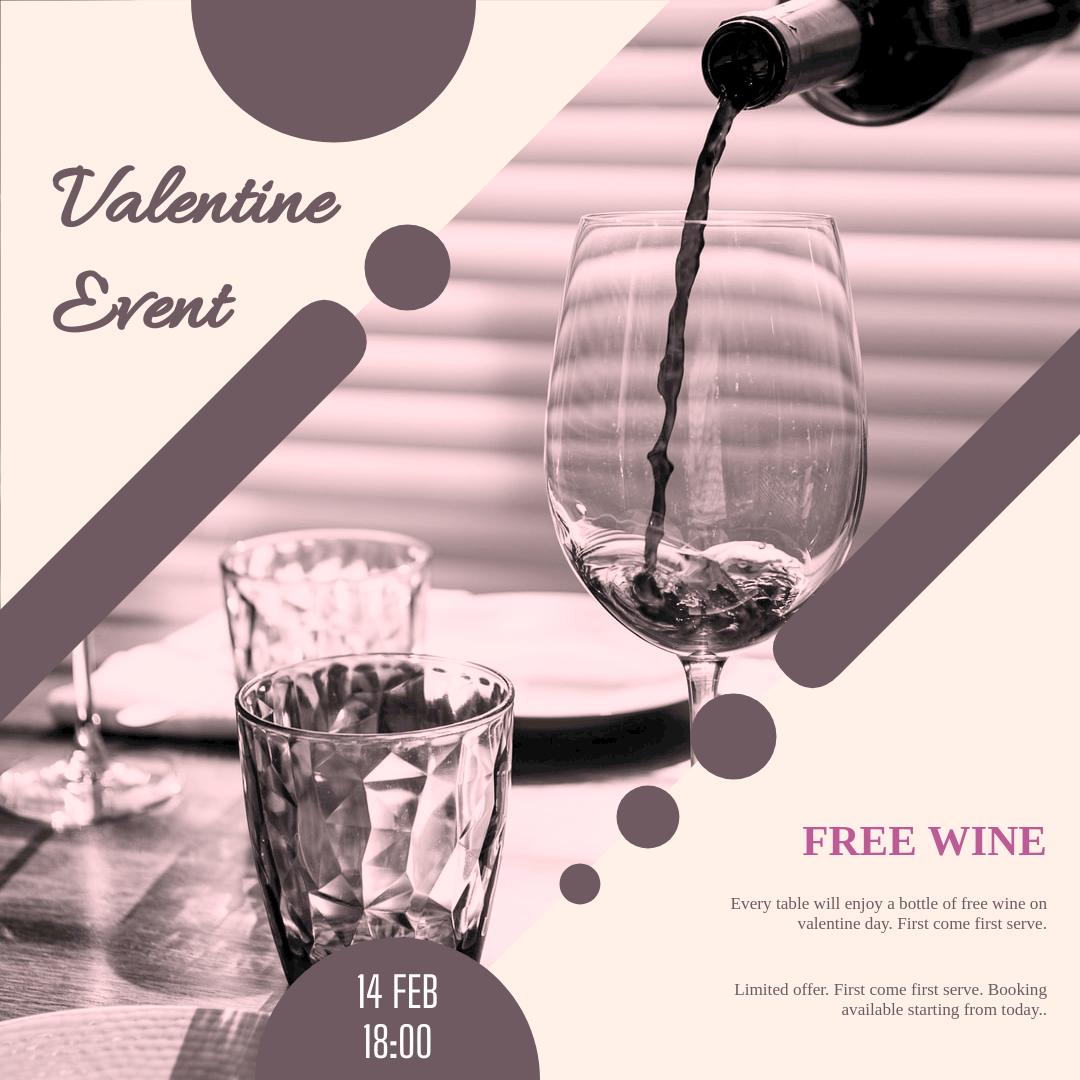 Instagram Post template: Valentine Dinner Instagram Post (Created by InfoART's Instagram Post maker)