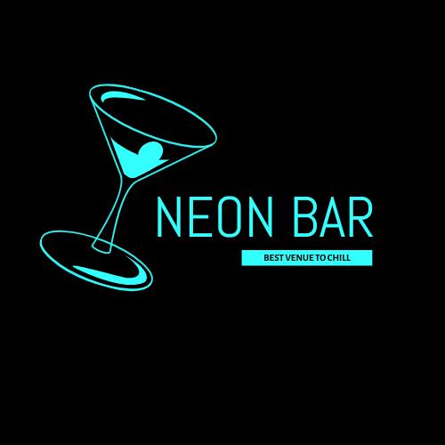Logo template: Neon Bar Logos (Created by InfoART's Logo maker)