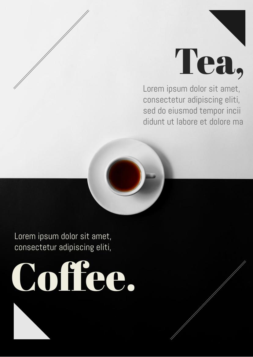 Flyer template: Tea vs Coffee Flyer (Created by InfoART's Flyer maker)