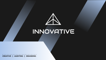 Business Card template: Gradient Innovative Business Cards (Created by InfoART's Business Card maker)