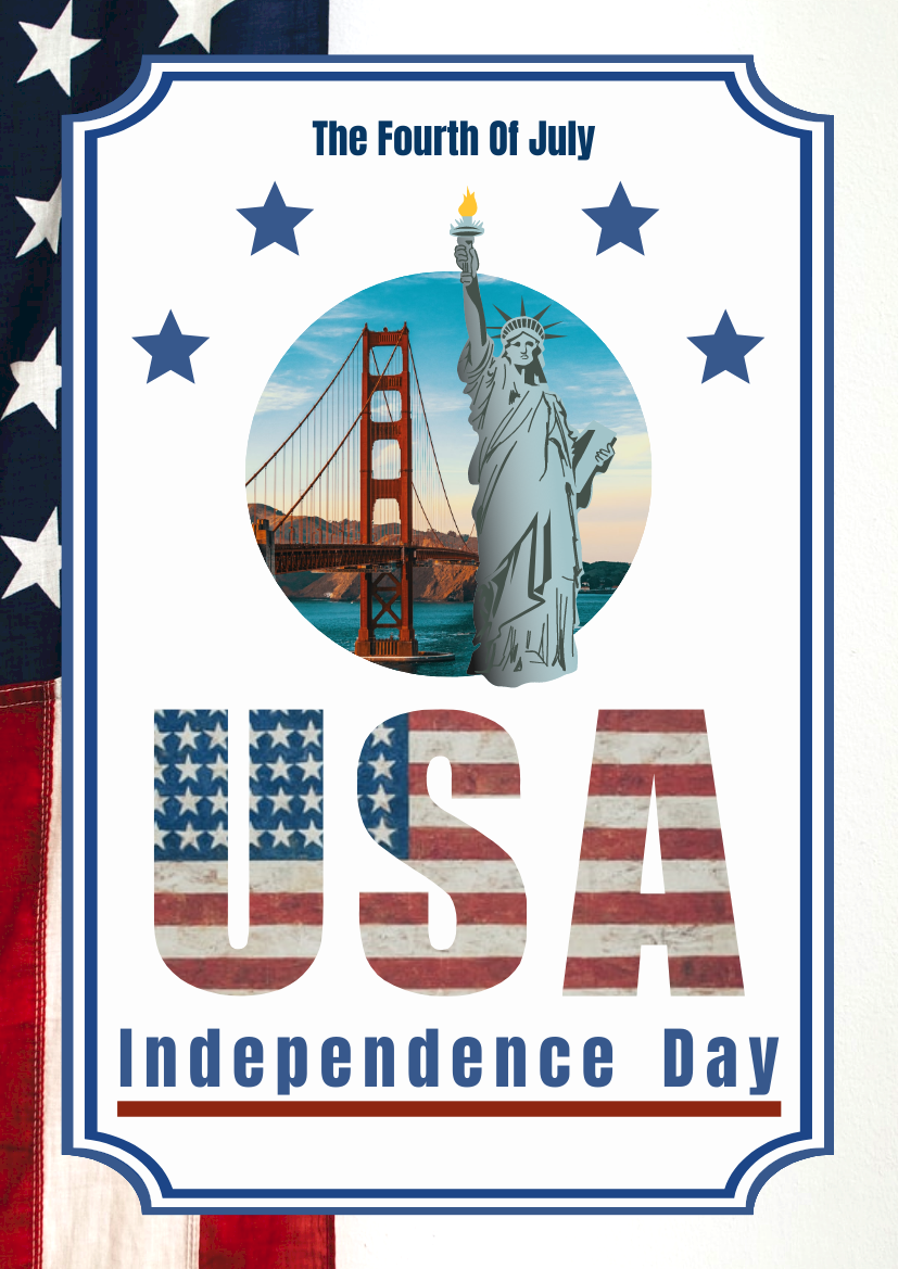 Flyer template: The Fourth Of July Independence Day Flyer (Created by InfoART's Flyer maker)