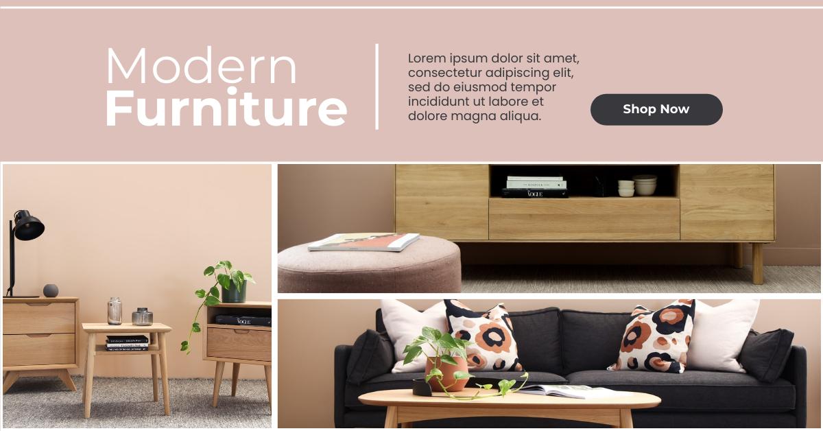 Facebook Ad template: Modern Furniture Shop Facebook Ad (Created by InfoART's Facebook Ad maker)