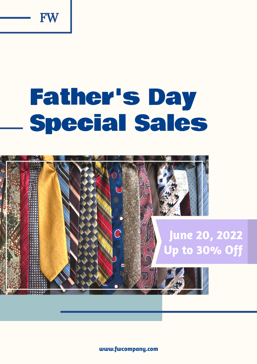 Flyer template: Father' day Special Sale Flyer (Created by InfoART's Flyer maker)
