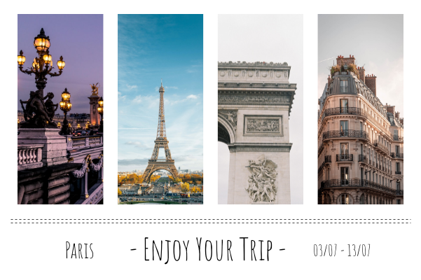 Greeting Card template: Paris Travelling Greeting Card (Created by Collage's Greeting Card maker)